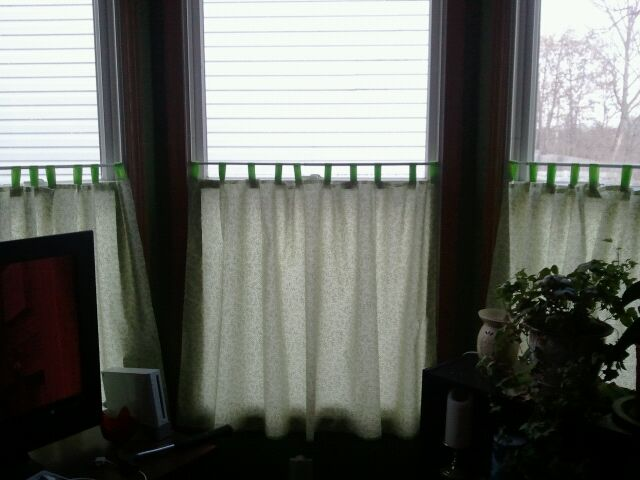 Bay window curtains just blame jane