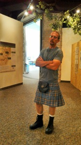 My husband, wearing his kilt and showing off his sexy legs.