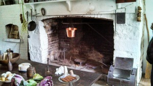 The kitchen in the main house.