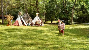 Part of the Native American village.