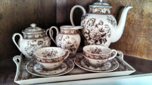 My prize purchase: a historically accurate tea set.