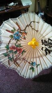 Paper parasol.