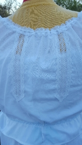 Back view of inset lace
