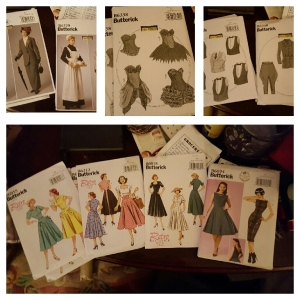 Newly purchased Butterick patterns