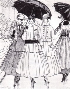 1915 fashion plate from La Gazette du Bon Ton. Source: wikimedia commons' public domain