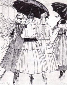 1915 fashion plate from La Gazette du Bon Ton. Source: wikimedia commons' public domain